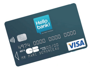carte bleue hello bank