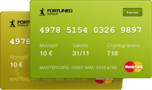 fortuneo carte bancaire