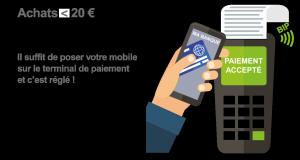 paiement sans contact par mobile moins de 20 euros
