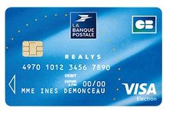 la banque postale carte visa Carte Réalys Banque Postale : caractéristiques, tarifs et avantages