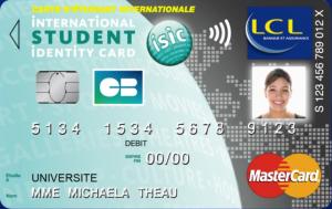Carte Bancaire Gratuite Lcl.Carte Lcl Isic Carte Bancaire Et Carte Etudiant Internationale