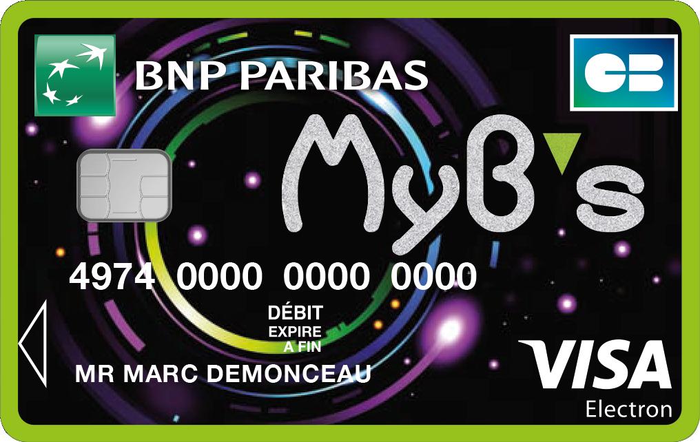 carte visa electron bnp Carte Myb's : tests et tarifs de la carte pour mineurs de la BNP
