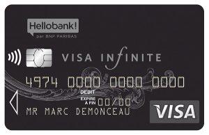 Quels revenus pour la carte Visa Infinite ?